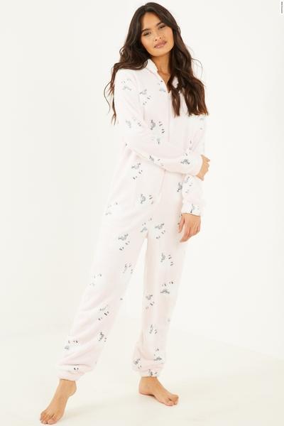 Pink Fleece Onesie
